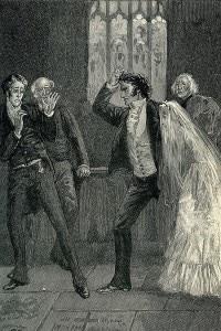 Jane Eyre di Charlotte Bronte. Nell'immagine, Jane scopre che Rochester è già sposato