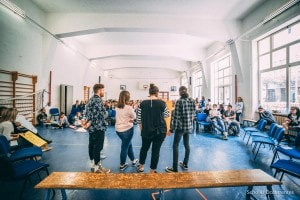 Scholas Occurrentes: un momento di un'iniziativa a Roma