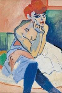 Donna in camicia di André Derain