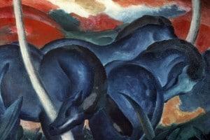 Grandi cavalli azzurri di Franz Marc
