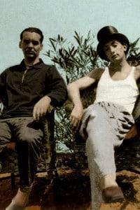 Federico Garcia Lorca (a sinistra) e Salvador Dalì