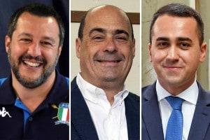 Salvini, Zingaretti, Di Maio