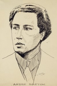 Ritratto di Andre Breton (Tinchebray, 1896 - 1966) realizzato da Maurice Henry