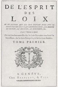 """Frontespizio dell'edizione originale de """"Lo spirito delle leggi"""" di Montesquieu"""