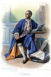 Denis Diderot: filosofo, critico d'arte e scrittore francese. Co-fondatore e capo redattore dell'Enciclopedia