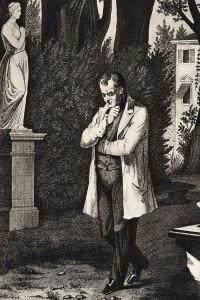 Camillo Benso Conte di Cavour in giardino