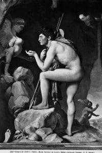 Edipo interroga la Sfinge. Dipinto di Jean-Auguste Ingres conservata al Museo del Louvre di Parigi