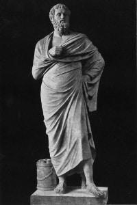 La statua del drammaturgo greco antico Sofocle