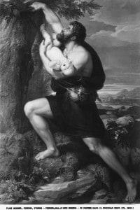 Un pastore salva il fanciullo Edipo. Opera di Francesco Nenci conservata nella Galleria d'Arte Moderna di Palazzo Pitti a Firenze