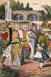Alice e la Regina di Cuori. Illustrazione di John Tenniel