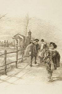 I promessi sposi di Manzoni: l'incontro di Lucia con i Bravi