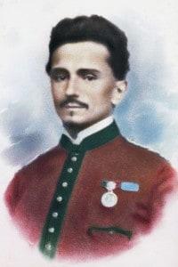 Ritratto in uniforme garibaldina di Ippolito Nievo (1831-1861), scrittore e patriota italiano