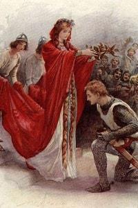 """Illustrazione del romanzo storico """"Ivanhoe"""" di Walter Scott"""