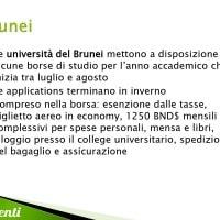 Borse di studio per il Brunei