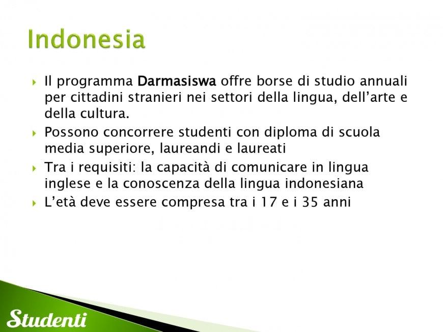 Borse di studio per l'Indonesia