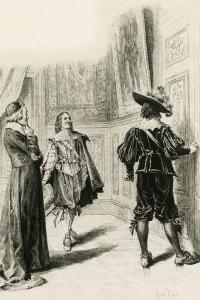 Illustrazione per il Capitolo XV (Uomini della veste e uomini della spada) de I tre moschettieri di Dumas