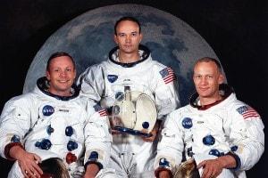 Armstrong, Collins e Aldrin: l'equipaggio dell'Apollo 11
