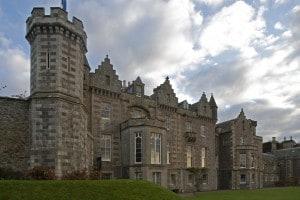 Abbotsford House: casa di campagna storica in stile neogotico (architetto William Atkinson) di Walter Scott in Scozia