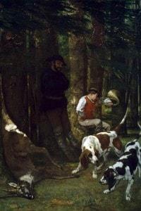 Battuta di caccia (1856) di Courbet