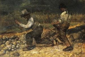 Gli Spaccapietre di Courbet