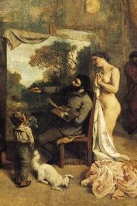 L'atelier del pittore, dettaglio centrale