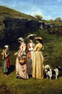 Le giovani donne del villaggio di Courbet