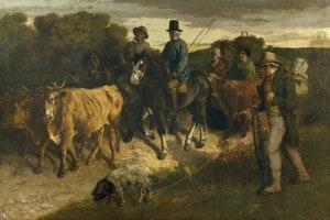 Ritorno dalla fiera di Courbet