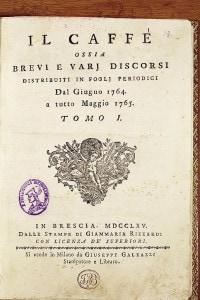 Frontespizio della rivista Il Caffè, 1765
