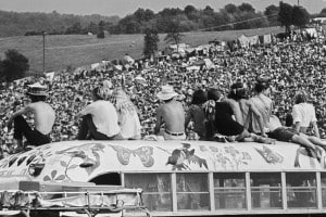 Woodstock, un'immagine dell'epoca