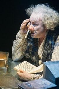 "L'attore Klaus Maria Brandauer (Krapp) in ""Krapp's Last Tape"" di Samuel Beckett"