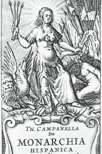 Frontespizio di De monarchia Hispanica di Tommaso Campanella per l'edizione Elzeviro
