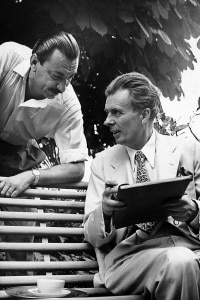 Aldous Huxley e Arnoldo Mondadori in Italia, 1958