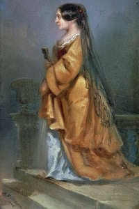 George Sand: dipinto nel 1849 da Theopile Kwiatkowski