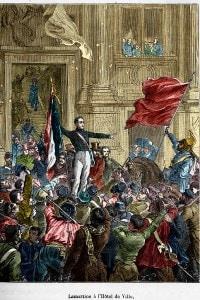 Lamartine rifiuta la bandiera rossa nel 1848