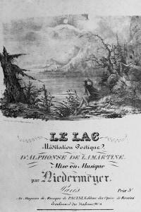 """Frontespizio di """"Le Lac"""" di Lamartine. Parigi, Museo del Carnevale"""