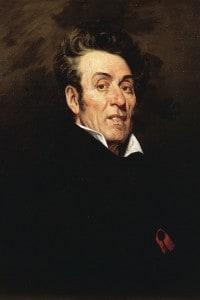 Ritratto di Lamartine. Dipinto di Achille Coqueret