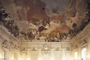Palazzo Wurzburg. Affresco sul soffitto di Giambattista Tiepolo