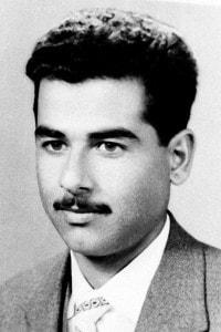 Foto di Saddam Hussein a 23 anni