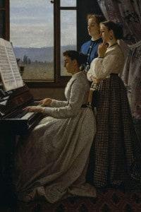 Il canto dello stornello di Silvestro Lega: olio su tela, cm 158x98