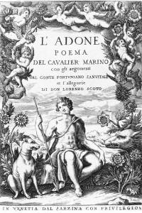 Frontespizio dell'Adone di Giovan Battista Marino