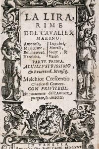 Frontespizio de La lira di Giovan Battista Marino