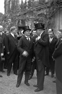 Giovanni Gentile. All'inaugurazione dell'Istituto di Studi Germanici a Villa Sciarra in occasione del centenario di Goethe era presente anche Benito Mussolini
