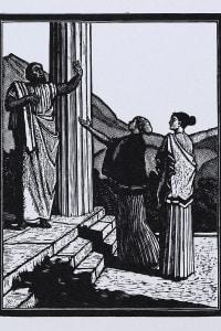 Illustrazione per la tragedia Antigone di Sofocle