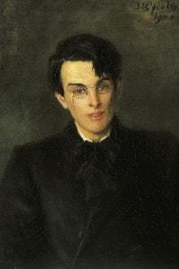 Ritratto di William Butler Yeats. Olio su tela di Jack Butler Yeats