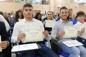 Alcuni dei vincitori della borsa di studio