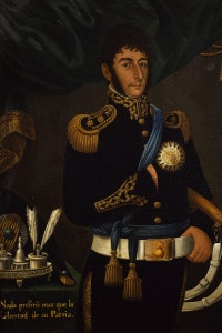 Ritratto del generale argentino Jose de San Martin