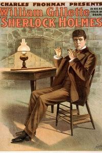 William H. Gillette nei panni di Sherlock Holmes, commedia teatrale
