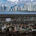 Spazzatura sulle coste di Panama City