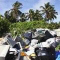 Spazzatura in un'isola delle Maldive