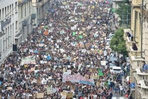 Torino durante la manifestazione per il clima del 27 settembre